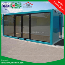 20ft premade light steel container villa hotel flatpack modular home prefab container house