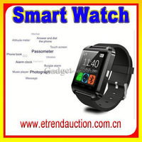 2015 Newest Smart Bluetooth Watch With Sync Function Sync Phonebook call and sms For phone and Android