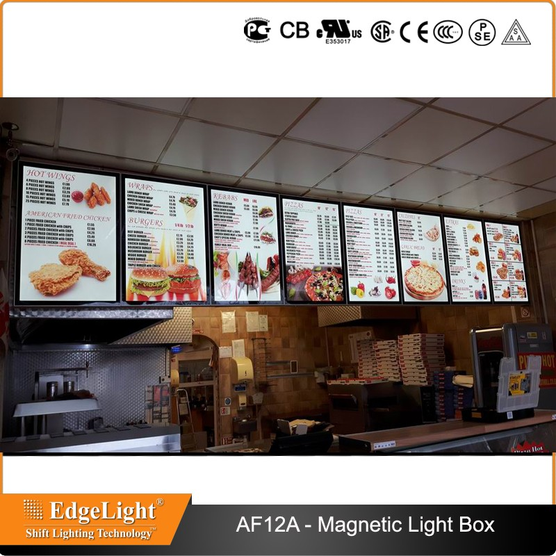 Edgelight AF12A aluminum frame magnetic advertising backlit billboard on Sell from China Edgelight manufactory