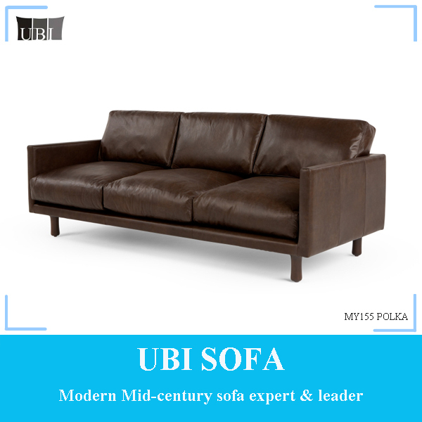 Modern chesterfield leather sofa for living room MY155