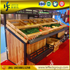 China wooden gondola fruit and vegetable display rack units for store