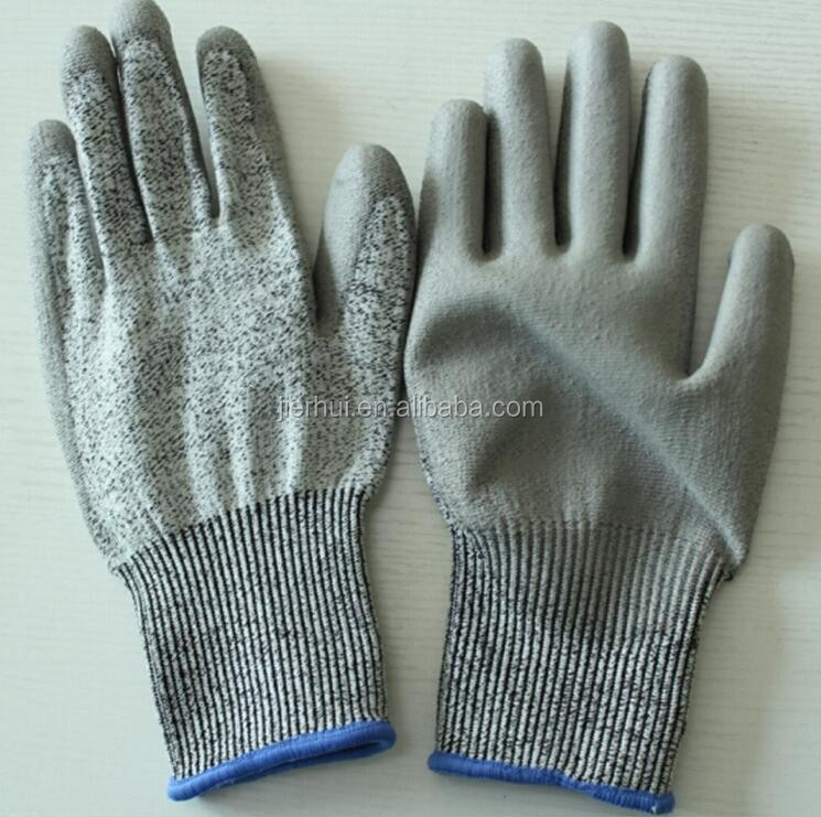 JIE'ERHUI foam nitrile mechanic work glove nylon glove