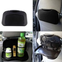 Hot Selling New Folding Auto Car Seat Back Table Back Seat Tray Table Drink Food Cup Tray Holder Stand Desk