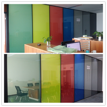 Self adhesive/non self adhesive switchable smart film for partition,car,windows and doors