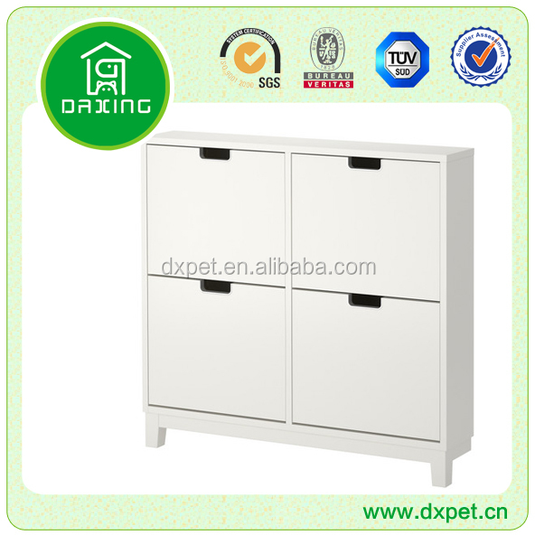 MDF white tall shoe cabinet