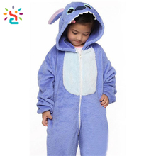 Lilo & Stitch zip baby romper Wholesale onsie adult polar fleece kigurumi pajamas Halloween costumes sleeping wear stitch onesie