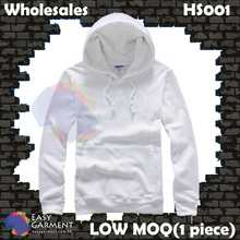 Wholesales Low MOQ HS001 360G White Terry Sweater Hoodies
