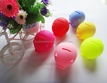 Promotional gift cheap colorful cute shape silicone coin saver