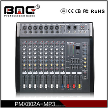 Classical BMG Professional 8 Channel Audio Console/Karaoke Mixer Amplifier