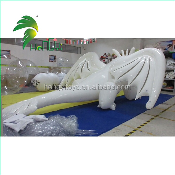 Inflatable White Large Dragon toys (4)