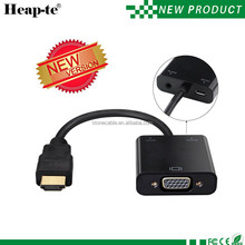 1080P HDMI to VGA Adapter Video Converter with Micro USB / 3.5mm Audio