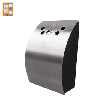 Recycling wall mounted cigarette bin ashtray stand