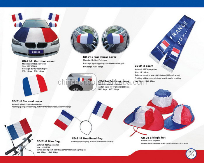 WM 2018 france fan acrylicscarf french jacquard knitting scarf