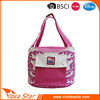 Manufacture pvc material shoulder bag style portable pink wine cooler bag