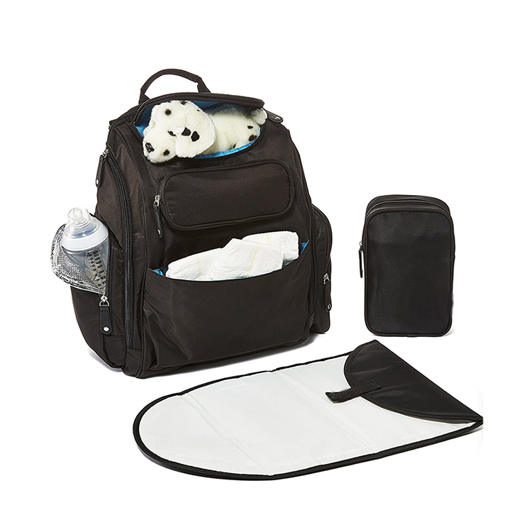 1DP0409 Fashion Large Capacity Diaper Bag Mummy Bags Backpack With Stroller Straps and Changing Pad