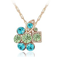 Free Shipping Wholesale Trendy Secret Garden Austria Crystal Necklace
