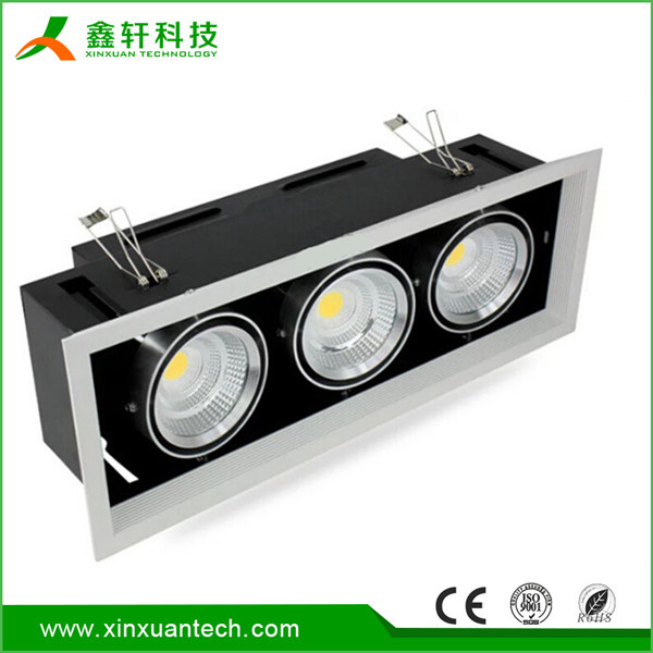 Shenzhen factory high power upshine single/double/triple heads led retrofit 30w cob led downlight