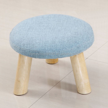 Toilet Stools Small Round Footstool Wooden Furniture Dropship