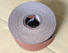 all the size can be customized,aluminium oxide abrasive cloth roll for hand use