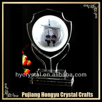 souvenir crystal glass award for police