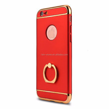 2016 New Arrival Hard Slim 3 in 1 Combo Ring Holder Kickstand Phone Case Cover for iPhone 5 S