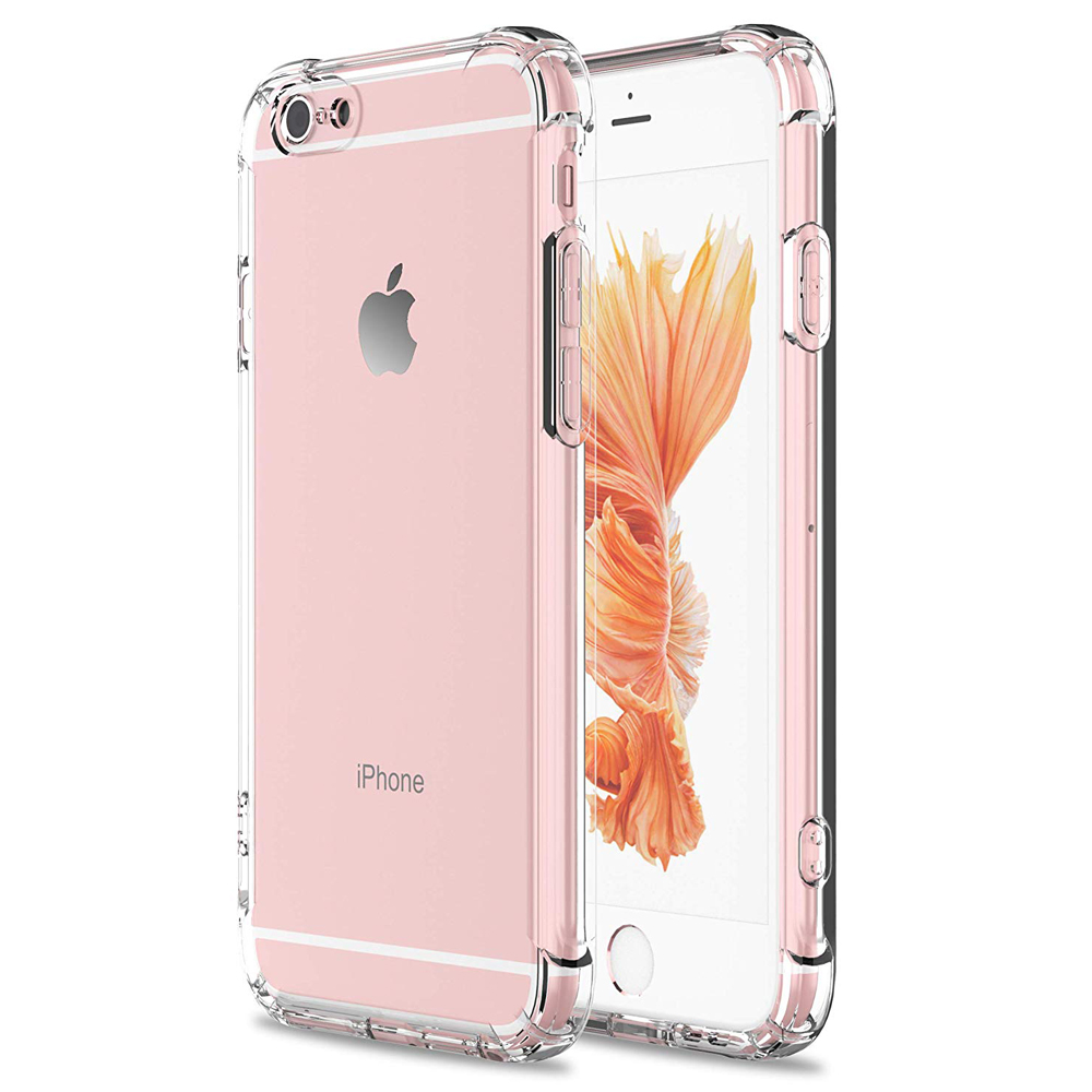 Schokabsorptie Zachte TPU Bumper Cover Anti-Kras Premium Hybrid Beschermende Crystal Clear Case Voor iPhone 6 7 8 S Plus X XR XS - ANKUX Tech Co., Ltd
