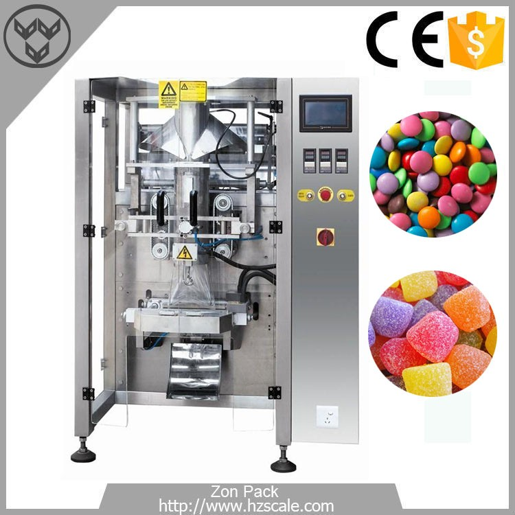 25-60 Bags/Min Max Film Width 520mm Cotton Candy Chocolate Weighing Packing Machine