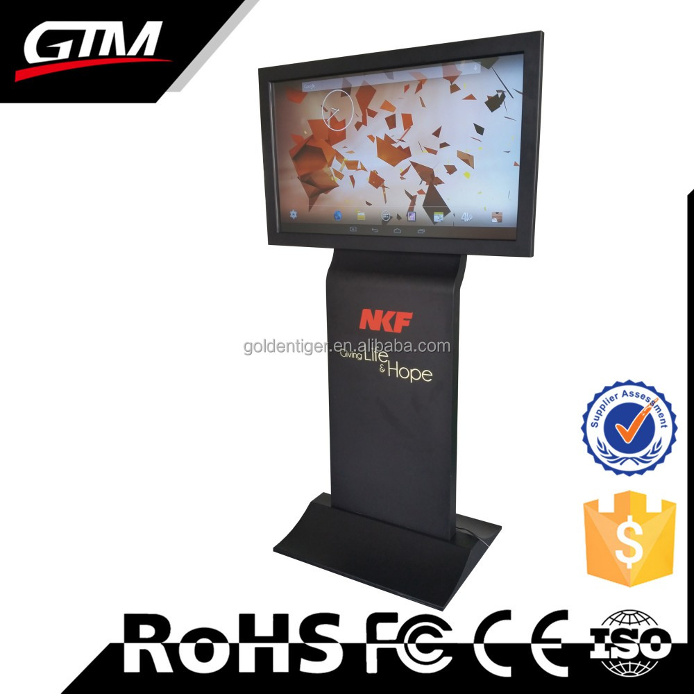 Floor Stand Digital Signage Core I3 Ir Multi Touch Screen All In One Touch Computer Floor Sign Led Monitor Advertising Totem