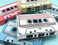 cassette tapes gift card holders party favor boxes