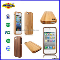 Natural Real Bamboo & Walnut Wooden Wood Back Case Cover Skin for iPhone 5 5S-Laudtec