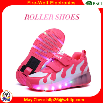 Led shoes for adults luminous men OEM customized blinking roller shoes