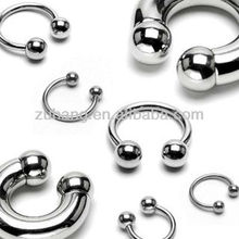 Fashion Jewelry 316L Surgical Stainless Steel Circular Barbell Horseshoe Ring