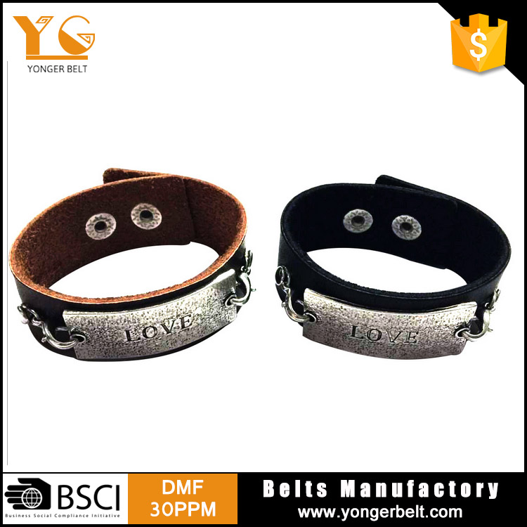 Fahion Big Branded Bracelet for Lovers PU Leather Braclet Men Friendship Bracelet Braslet