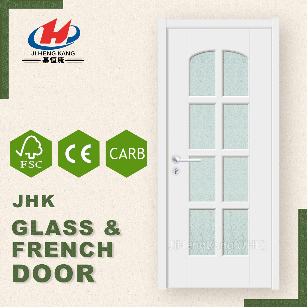 JHK-G19 Tempered Laminated Safe Glass Inserts French Door Partition Wall