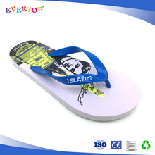 2016 hot selling fashionable outdoor summer men's white rubber flip flops beach sandals Soft male casual flat slippers