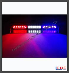 High intensity led car strobe flashing blue and red strobe warning light LB1104-3C