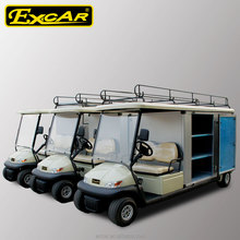 2 seats prices electric golf cart with customized cargo box