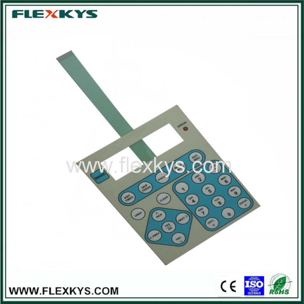 Industrial control button membrane big size switch keypad
