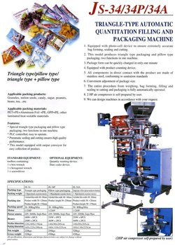 Triangle Bag Packaging Machine