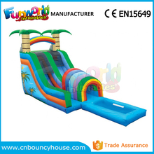 New design Gaint inflatable water slide with big swimming pool for adult and kids