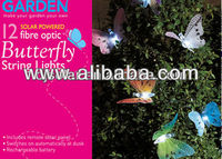 Solar Fiber Optic Butterfly/ Outdoor Garden Patio String Lights