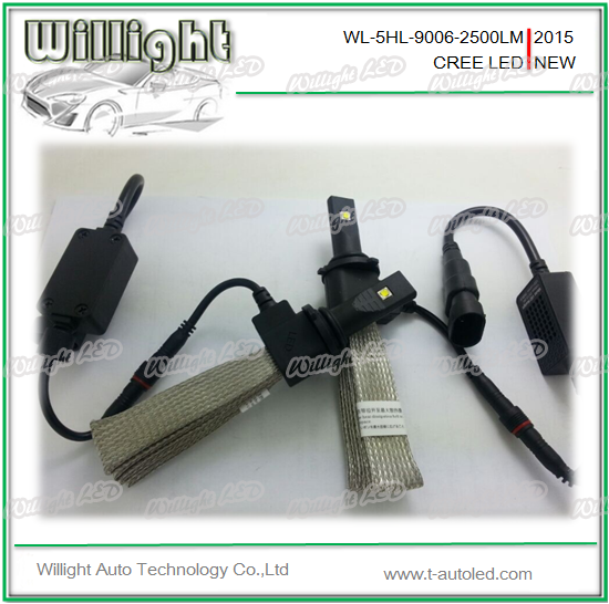 Hot Sale ! 2015 led car headlight H1 H3 H4 H7 H8 H9 H10 H11 9005 9006 LED auto lights 5000lm 40w