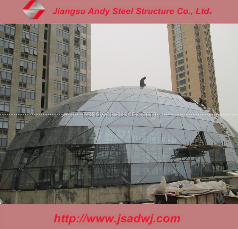 Dome Steel Structural Skylight Roof for Shopping Mall