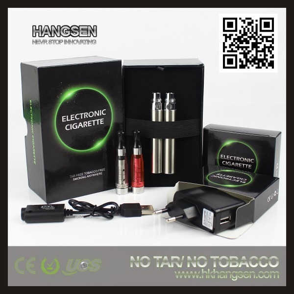 Hangsen refillable vaporizer - ego C4R/ce5 blister pack with no wick ce5 clearomizer & ego battery(650mah,900mah,1100mah)