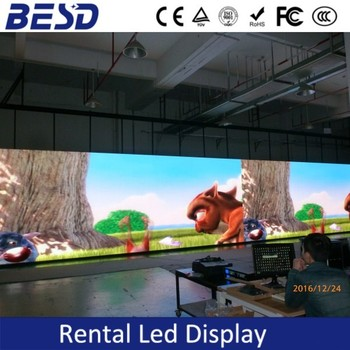 cabinet 500x1000mm Indoor full color p3.91 led display for rental
