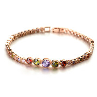 Anniversary,Engagement,Gift,Party,Wedding Occasion and Women's Gender fashion new trends bracelets of Italina Crystal Bracelet