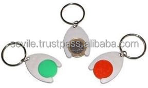 Supermarket Trolley Coin Holder Keychain