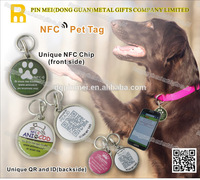 New pet products Programmable and waterproof rfid smart nfc pet tag