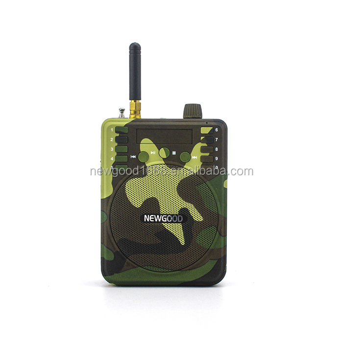 2016 new fashion factory hot sale amplifier with the function of duck call mp3 sounds hunting bird caller