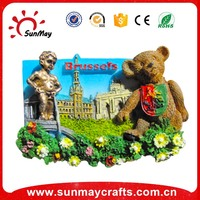 3d resin fridge magnet for souvenir